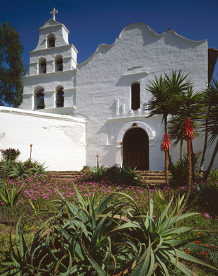 Mission San Diego de Alcala is a good example of Mission Revival