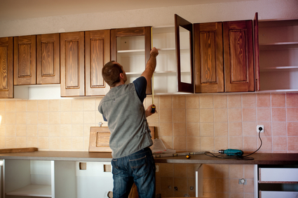 contractor for kitchen remodeling installing new cabinets
