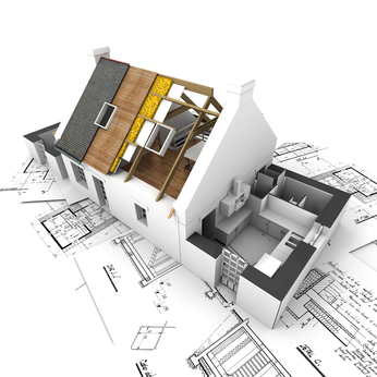 Blueprint of as-built home