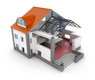 3D rendering of a modular home