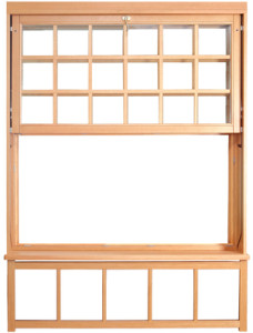 Double-hung window design