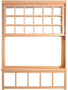 Double-hung window design