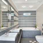 Modern and practical custom bathroom.