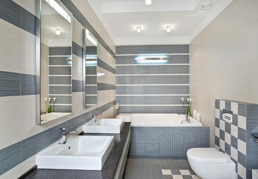 Modern and practical custom bathroom.