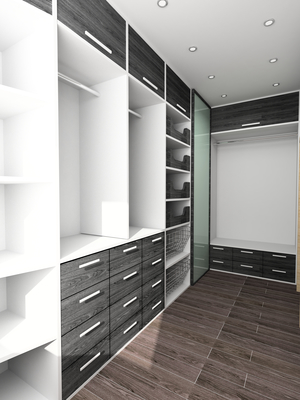 Modern walk-in closet design