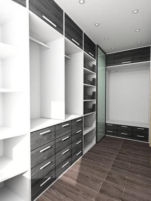 Modern walk-in closet design