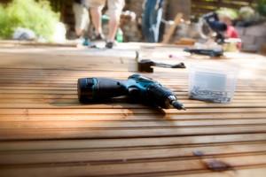 Wooden deck refinishing