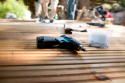 Wooden deck refinishing