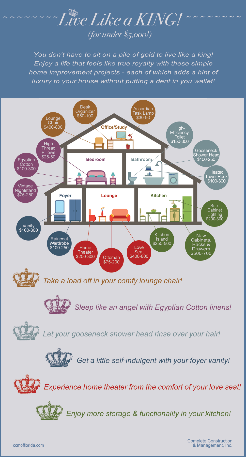 Home improvement infographic